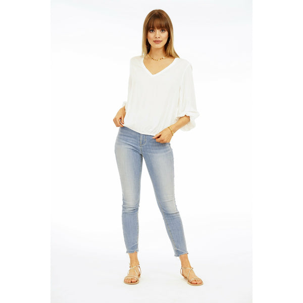 V-Neck Elastic Top