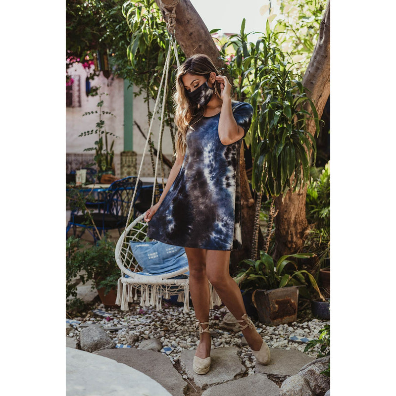 Tie-Dye T-Shirt Swing Dress 9331