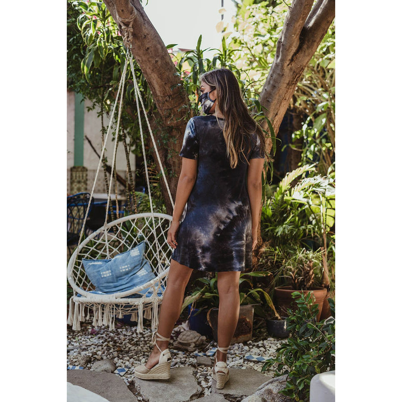 Tie-Dye T-Shirt Swing Dress 9333