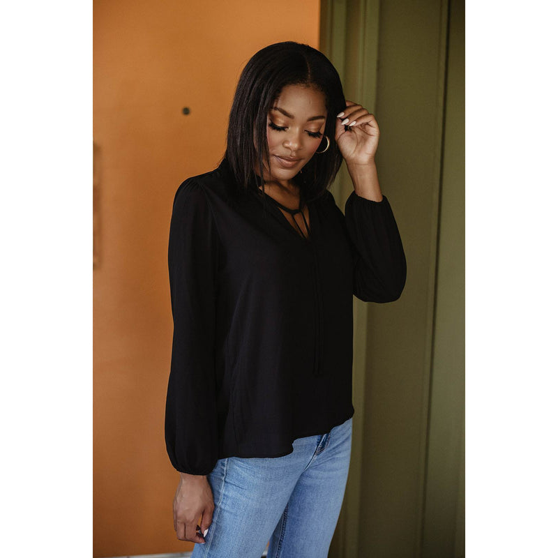 Pleat Neck Blouse 11773