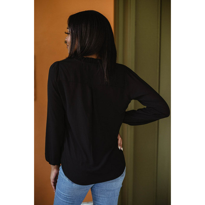 Pleat Neck Blouse 11774