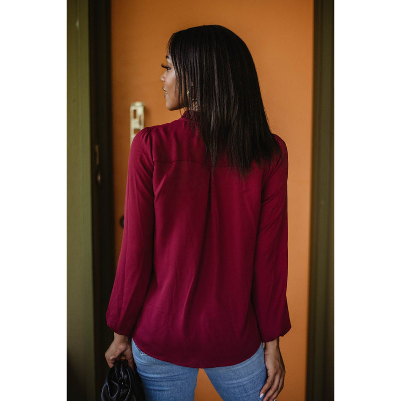 Pleat Neck Blouse 12035