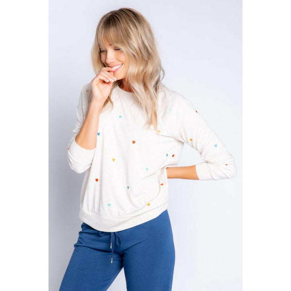 Retro Hearts Lounge Top