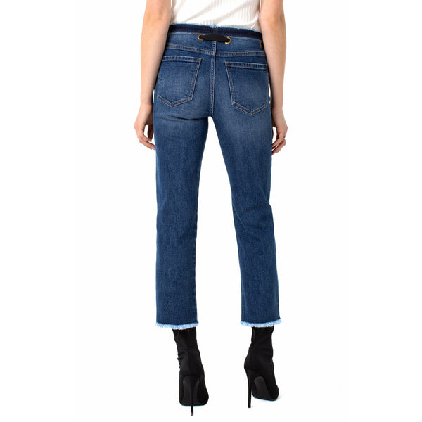 Hi-Rise Crop Straight with Removable Belt