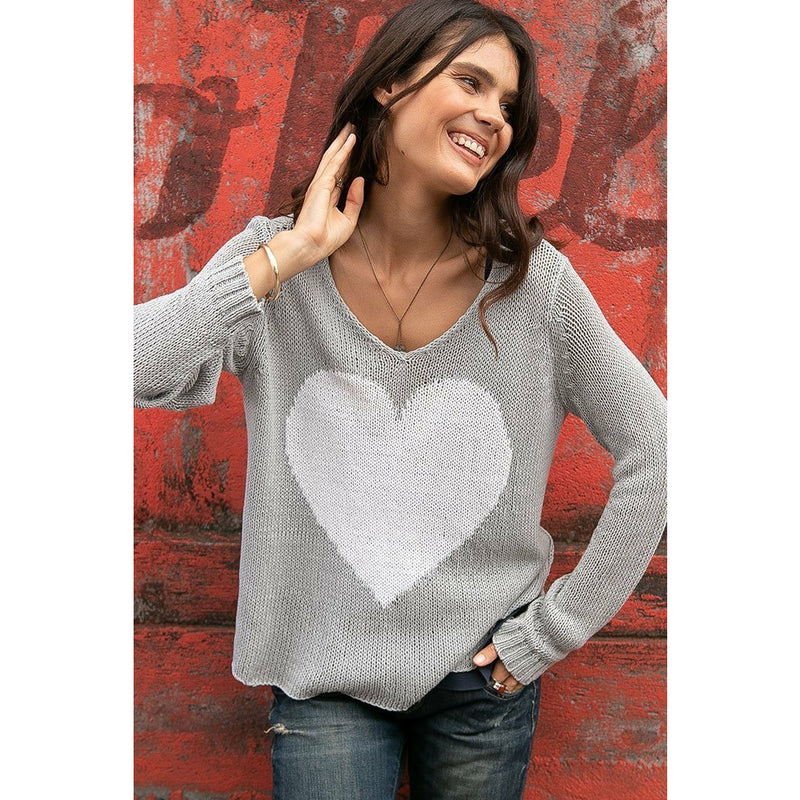 Juliet V Cotton Sweater