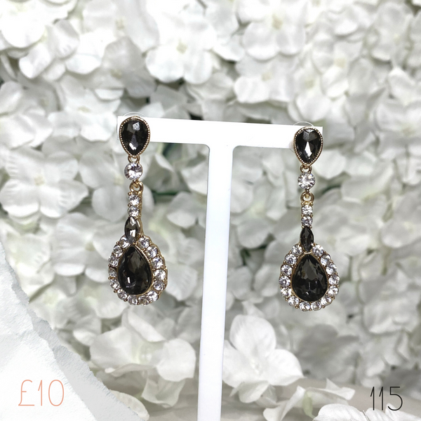Victoria Pear Medium Drop Earring 115