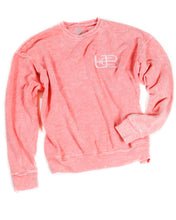 Load image into Gallery viewer, Pink Trumpet Flower Crew Neck Sweater