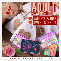 ADULT LOVE NOTES: Naughty & Nice ~ Sweet & Spicy Love Note Collection