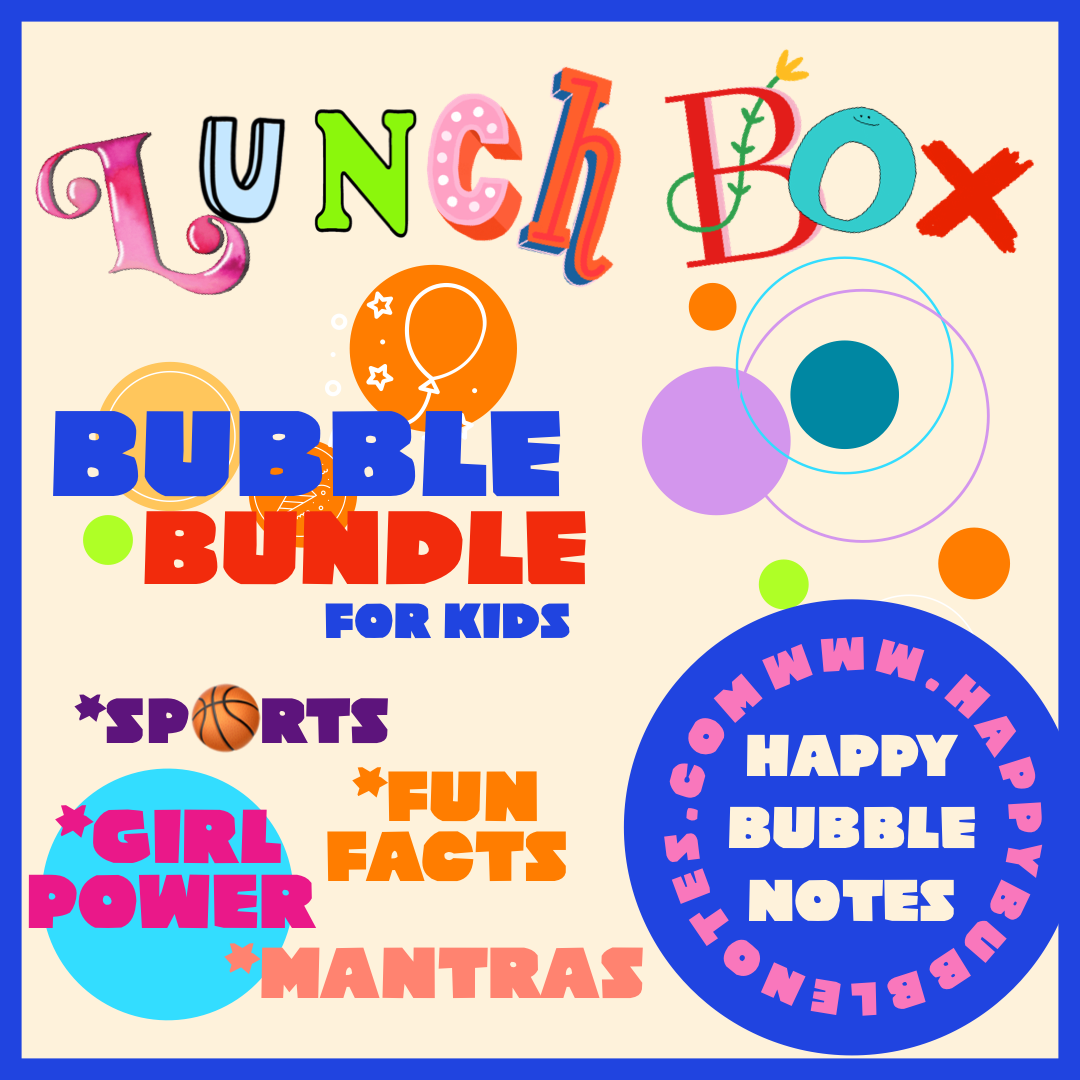 Lunchbox Bubble Bundle - Fun Facts