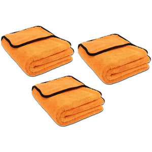 3er SET Liquid Elements Orange Baby Trockentuch 60x40cm 800GSM - Shine Cars