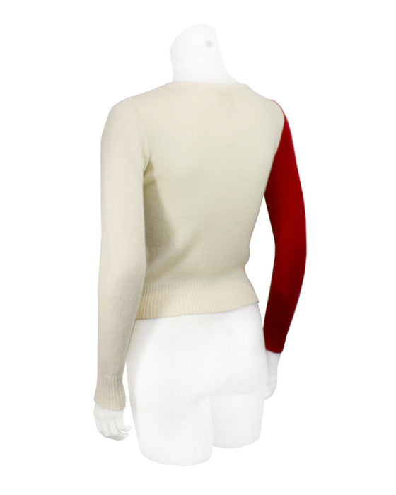 Red and White Pop-Art Style Sweater