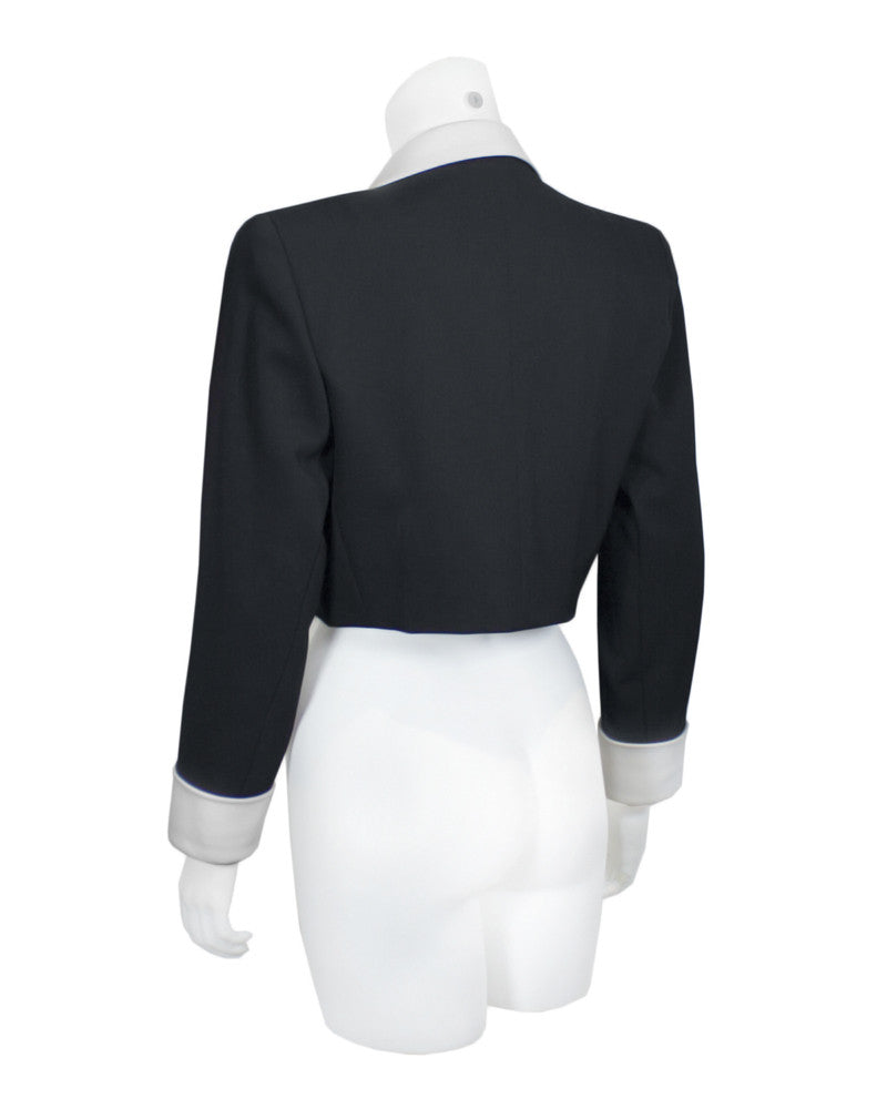 Black and White silk bolero jacket