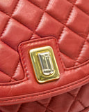 Red Lambskin Quilted Shoulderbag