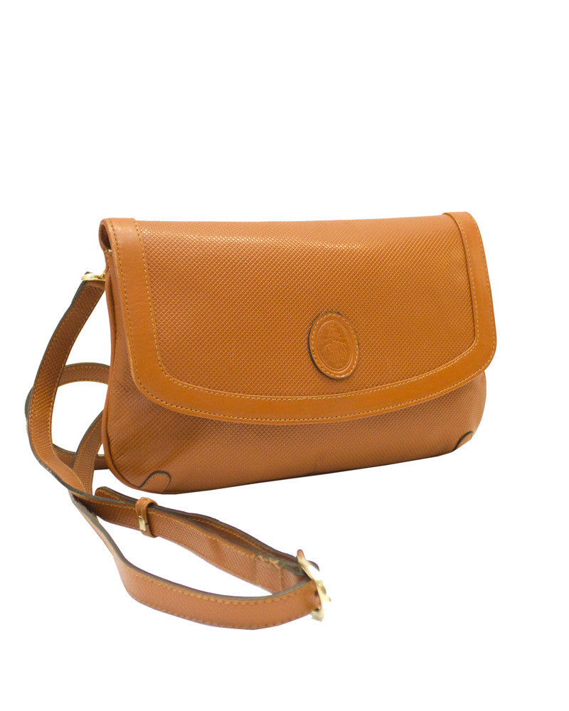 Honey brown leather cross body bag