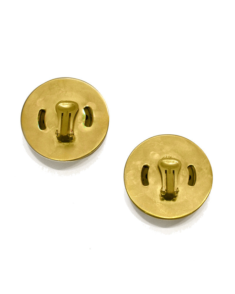 Oversized Gold Plated Clips
