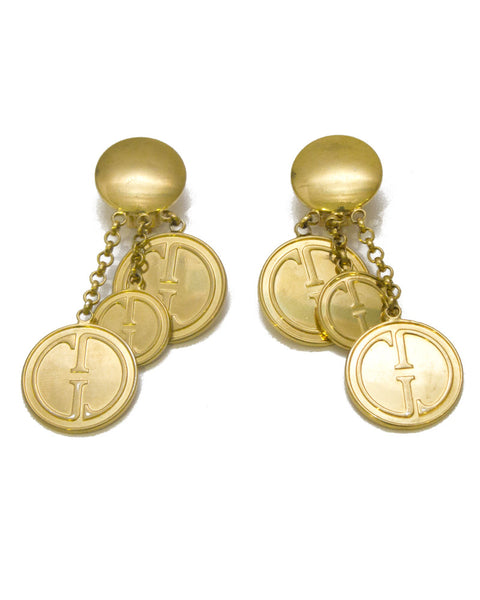 Gold Plated Drop Style Earrings