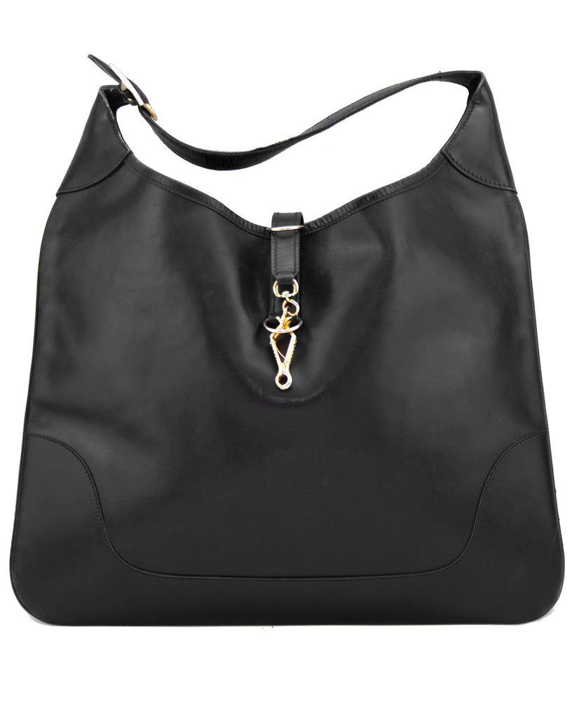 Black Leather Trim Bag