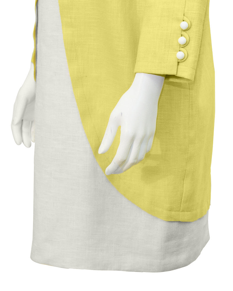Yellow Linen Dress