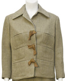 Tan suit with Leather detail