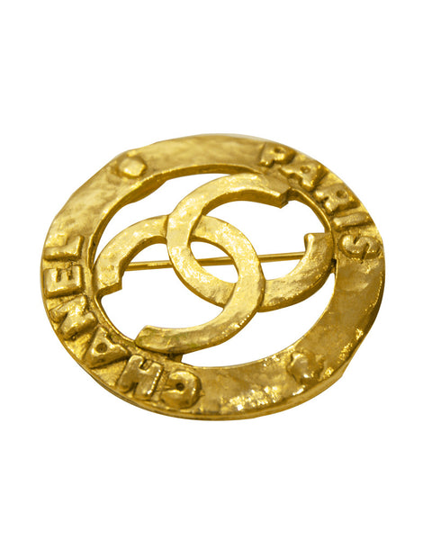 CHANEL gold pin