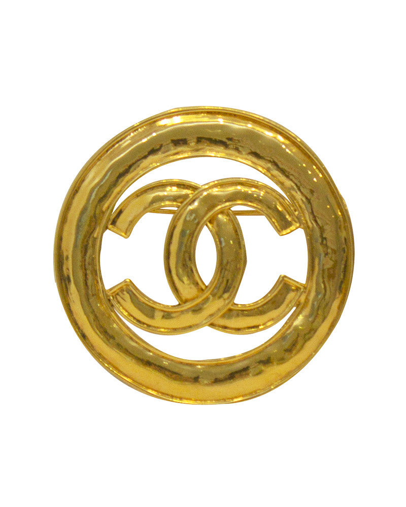 Gold Circle Logo Pin