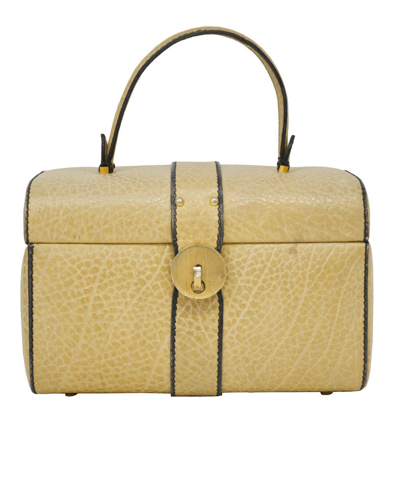 Tan Box Bag