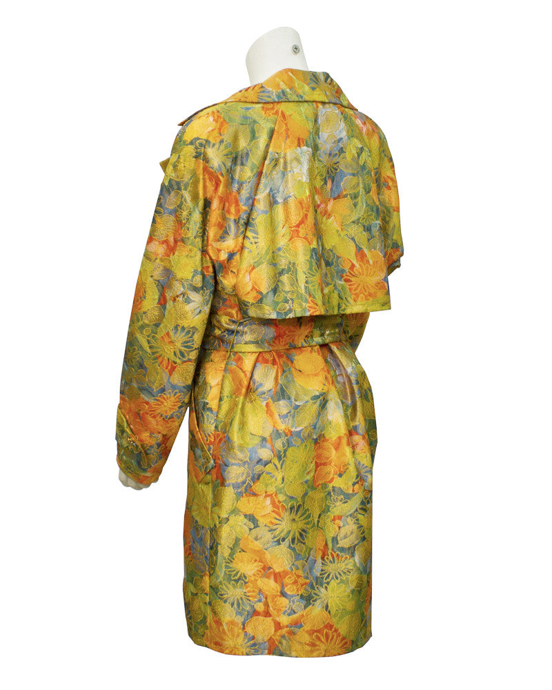 Floral Brocade Trench coat