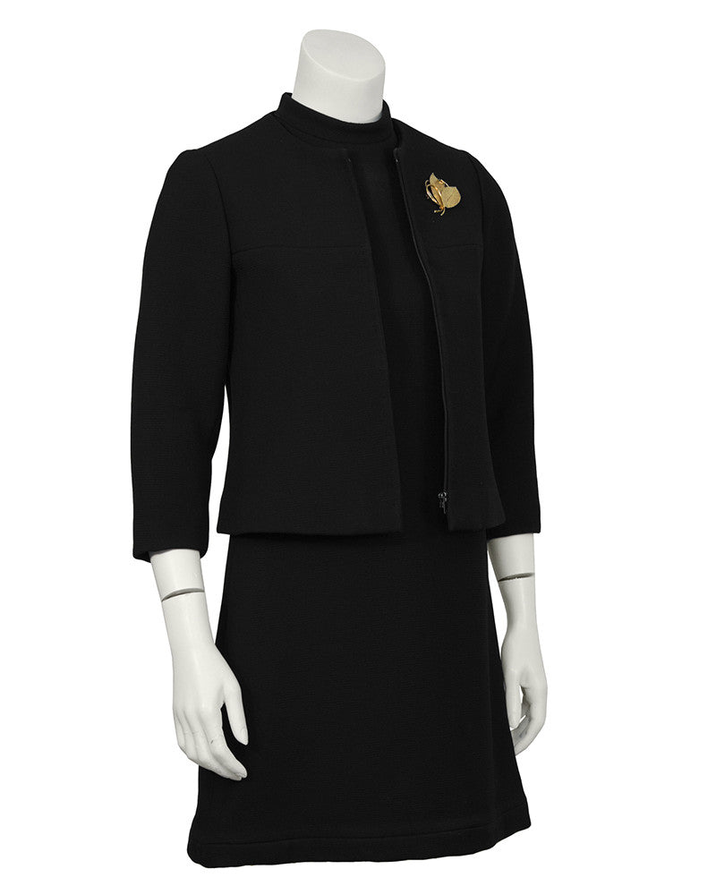 Black Dress and Jacket Ensemble