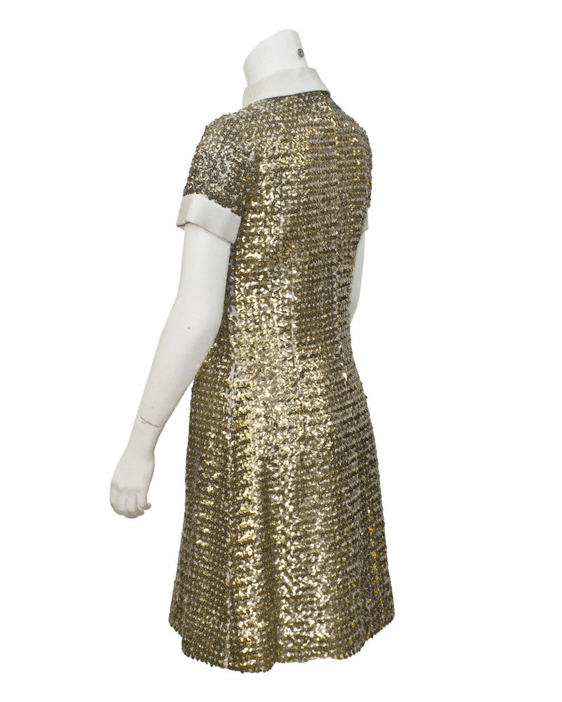 Gold Sequin Dress Evening Dress