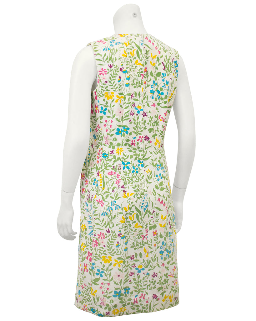 Floral Cotton Day Dress with Bow Belt Detail