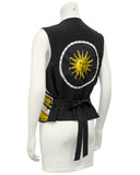 Black and Gold Astrologie Dies et Hore Hermes Scarf Vest
