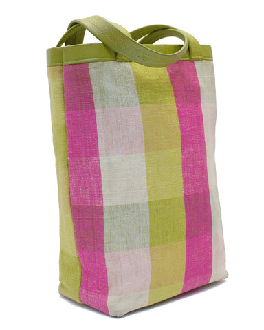 Plaid Shopping Tote Bag