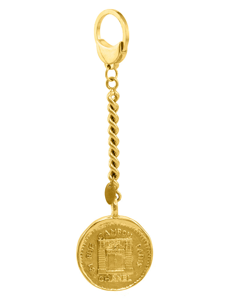 Rue Cambon Stamped Coin Keychain Circa 1984