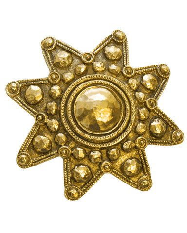 Gold 8 Point Star Pin