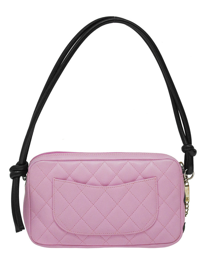 Pink Ligne Cambon Quilted Pochette Bag