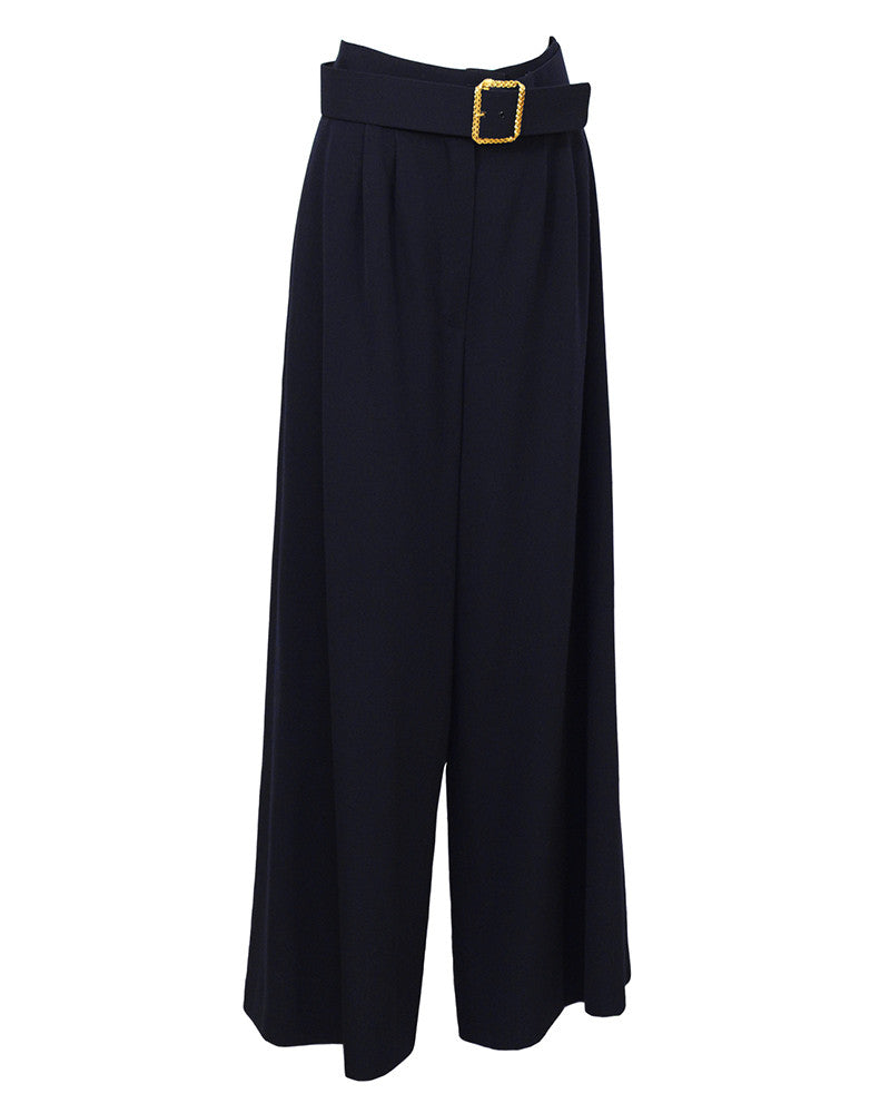Wool Navy Pantsuit