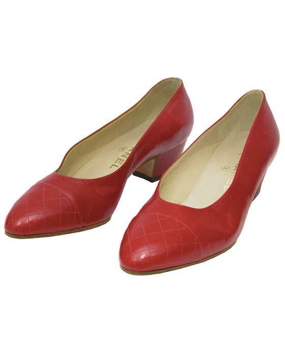 Red Lady Pumps