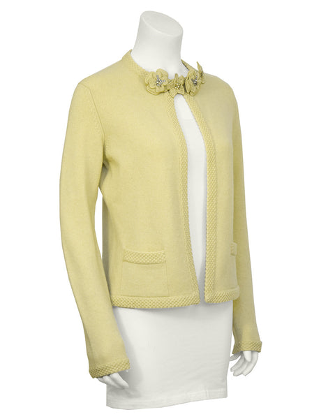 Butter Yellow Cashmere Cardigan