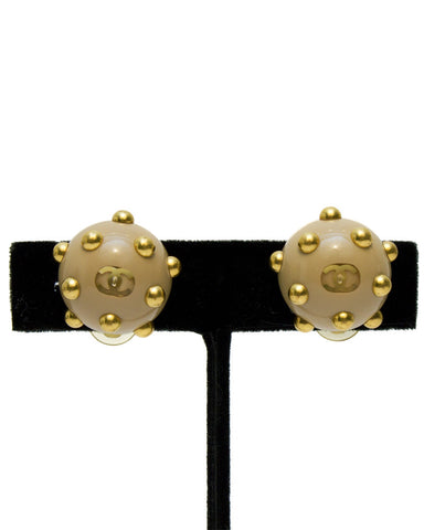 Beige Studded Earrings