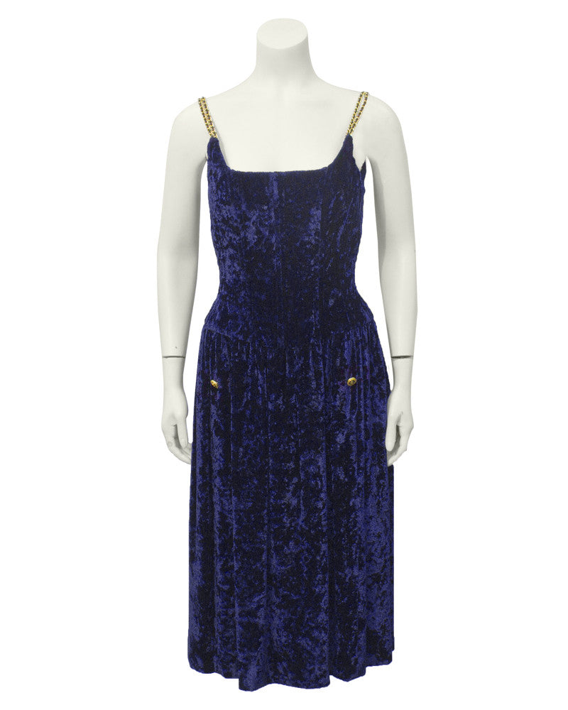 Navy Velvet Cocktail Dress