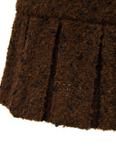 1997 Brown Boucle Skirt Suit