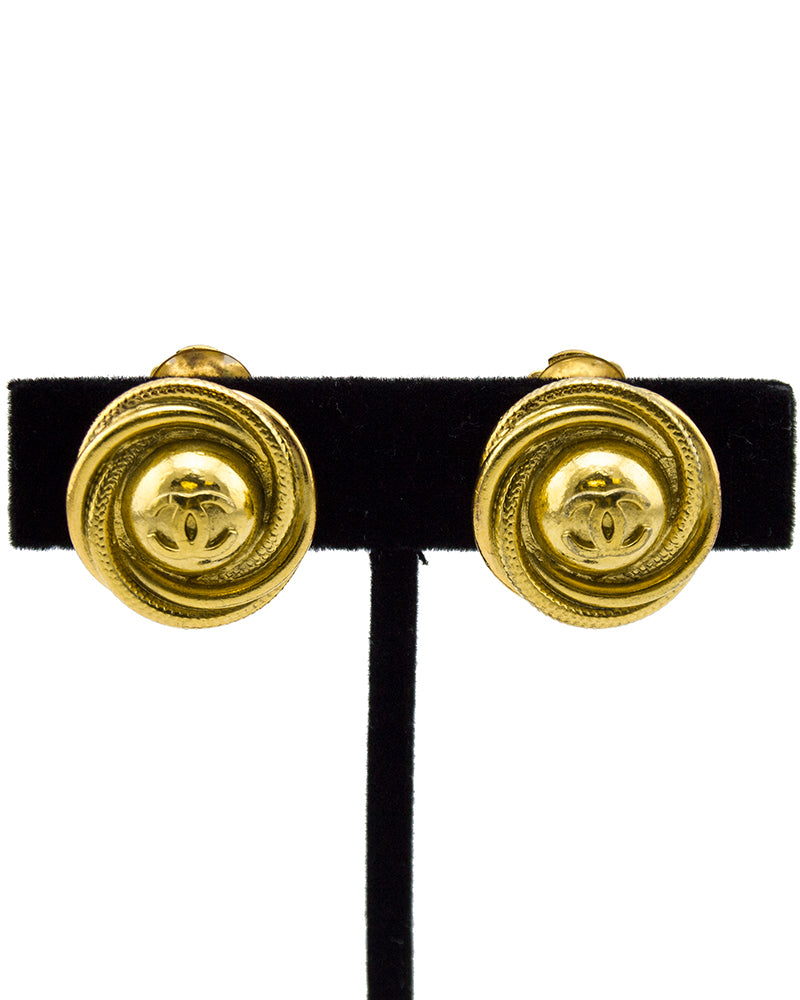 1997 Fall Collection Gold CC Earrings