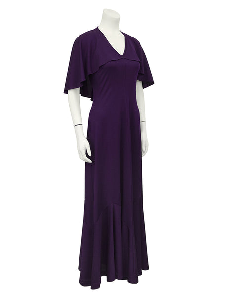 Purple Capelet Dress