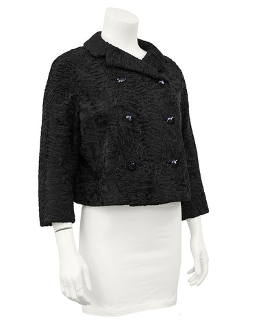 Black Broadtail Cropped Jacket