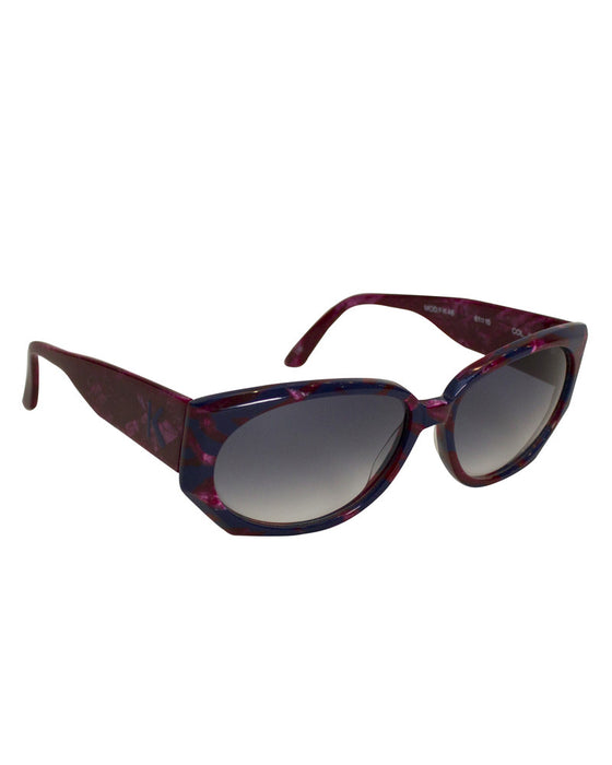 Burgundy & navy blue sunglasses