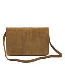 Taupe Suede Clutch