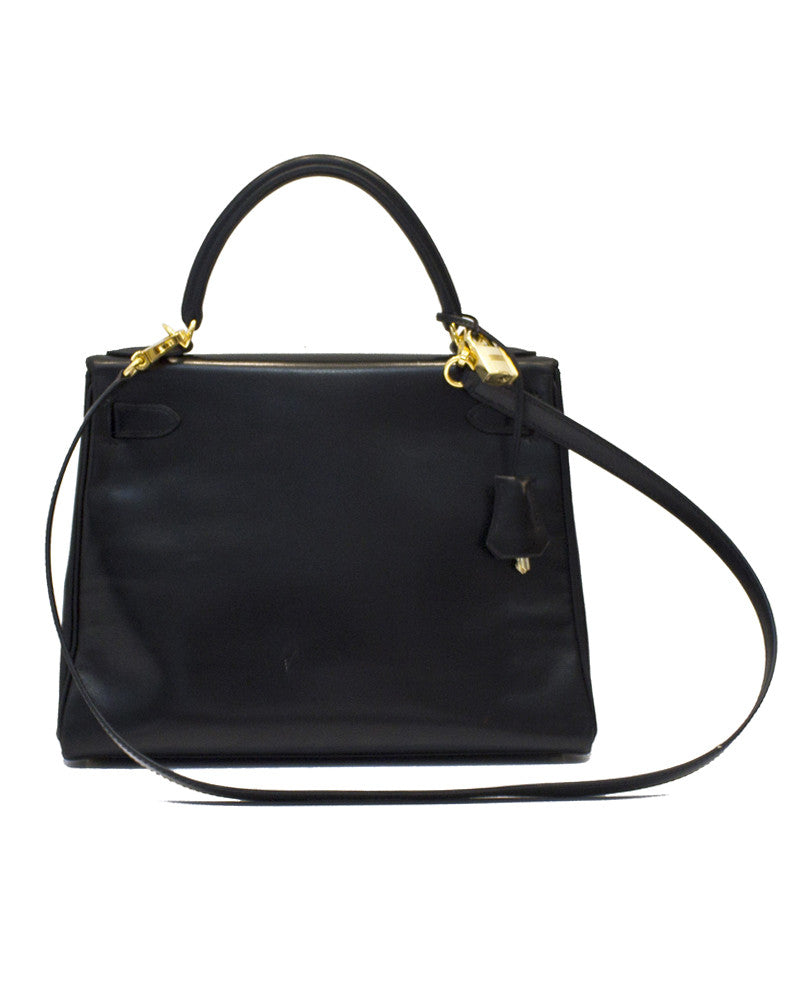 Black Box Supple Leather 28 CM Kelly Bag