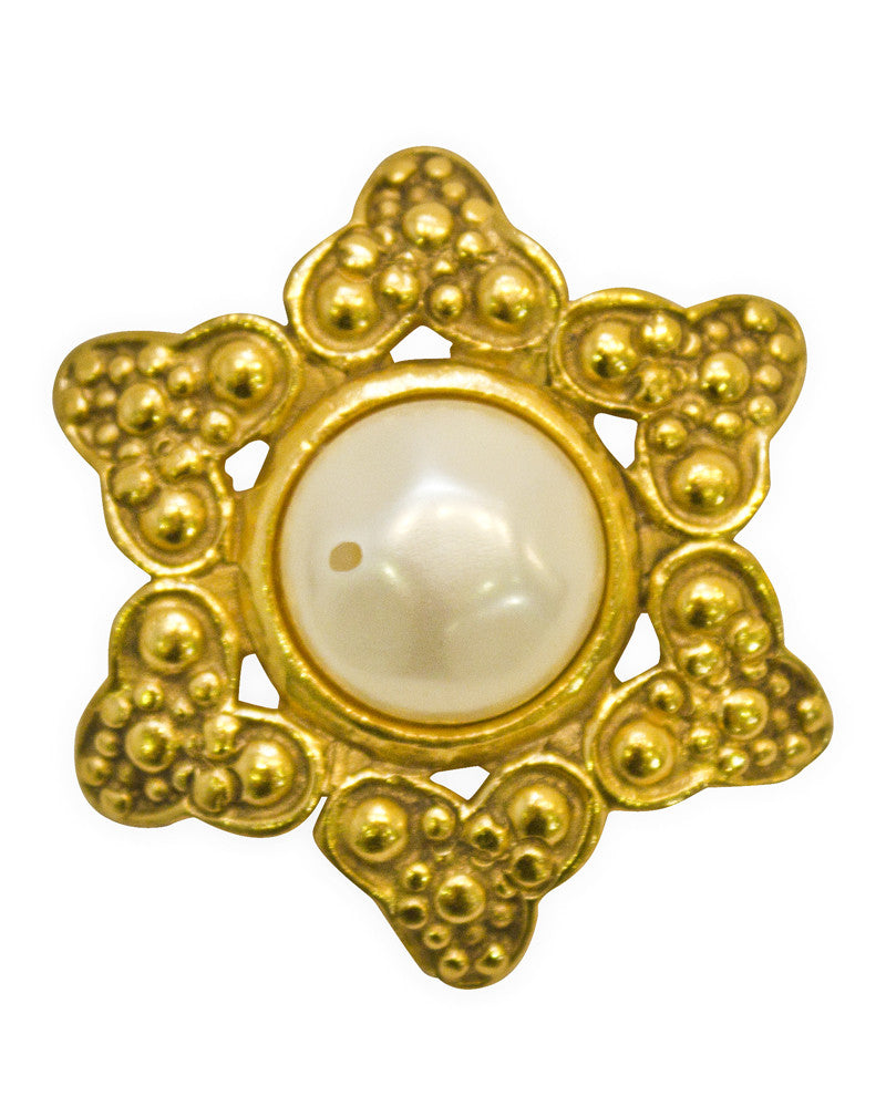 Gold and Pearl Pin
