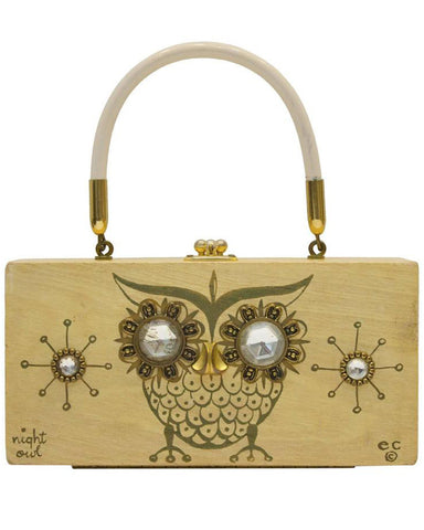 'Night Owl' Wood Box Bag