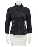 Gray Boucle Double Breasted Blazer
